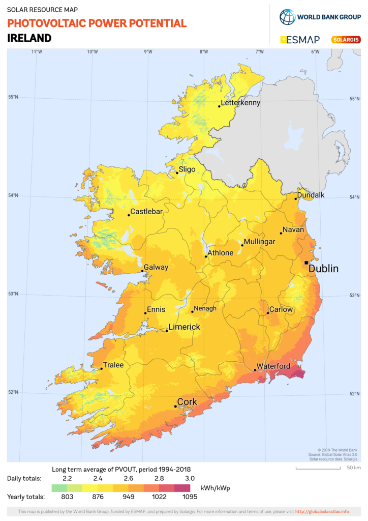 solar PV potential Ireland