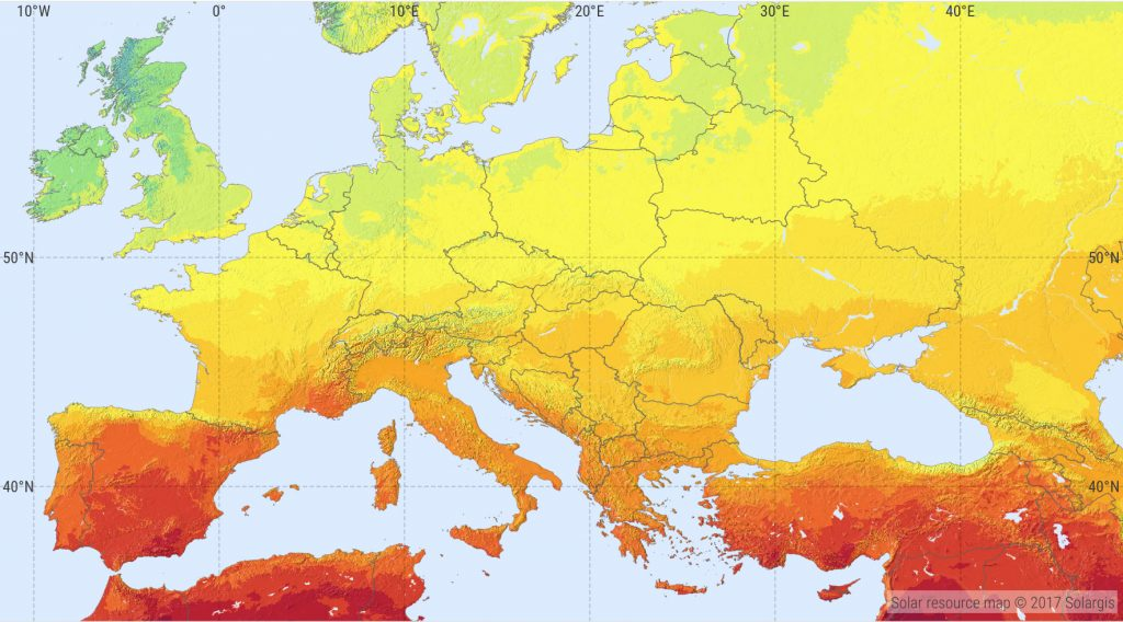 Europe Solar Map